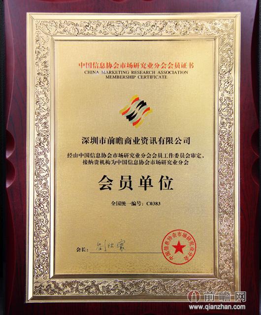 中国信息协会市场研究业分会会员